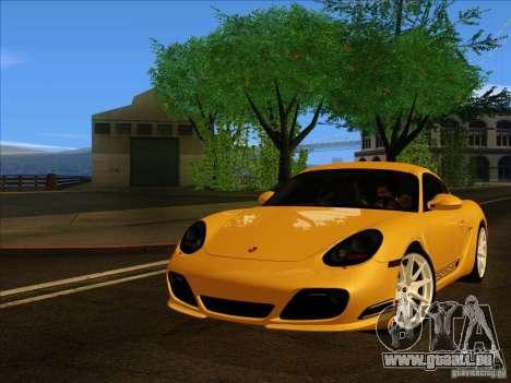 Porsche Cayman R 987 2011 V1.0 pour GTA San Andreas sur la vue arrière gauche