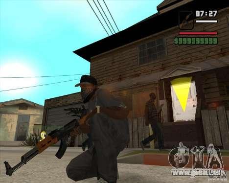 AK-47 de Xenus 2 pour GTA San Andreas deuxième écran