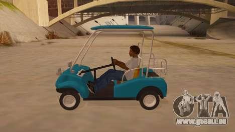 Golf kart pour GTA San Andreas laissé vue