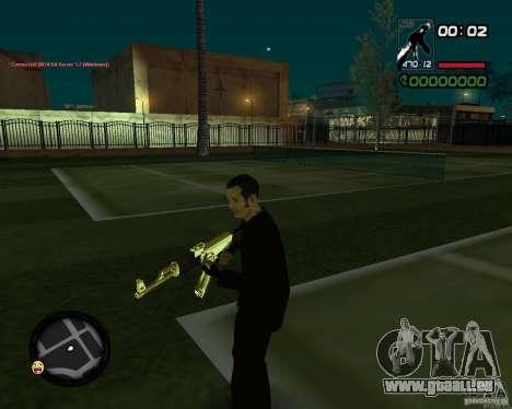 AK-47 Gold für GTA San Andreas zweiten Screenshot