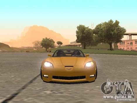 Chevrolet Corvette Z06 für GTA San Andreas Rückansicht