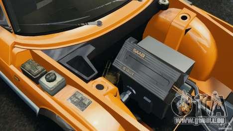 Saab 900 Coupe Turbo pour GTA 4 vue de dessus