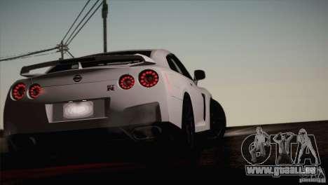 Nissan GTR Black Edition für GTA San Andreas Innenansicht