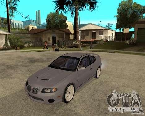 2005 Pontiac GTO für GTA San Andreas