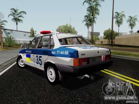 VAZ 21099, police pour GTA San Andreas laissé vue