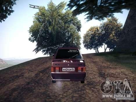 Ваз 2114 Pneumo für GTA San Andreas zurück linke Ansicht