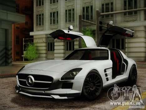 Mercedes-Benz SLS AMG für GTA San Andreas zurück linke Ansicht