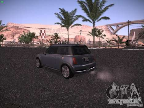 Mini Cooper S pour GTA San Andreas vue de droite