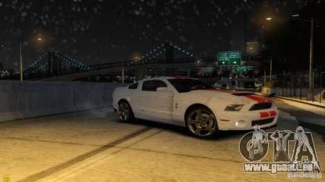 Ford Shelby Mustang GT500 2011 v2.0 pour GTA 4 roues