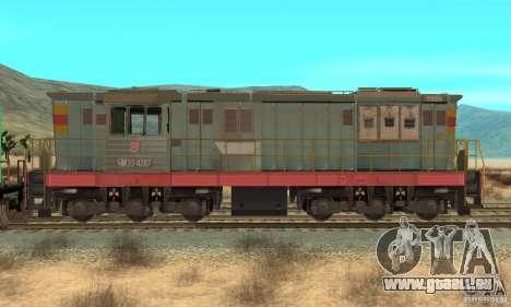 Locomotive ChME3-4287 pour GTA San Andreas sur la vue arrière gauche