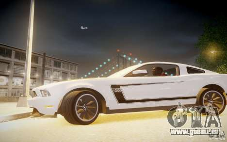Ford Mustang 2012 Boss 302 v1.0 pour GTA 4 est une gauche