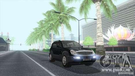 SsangYong Rexton 2005 pour GTA San Andreas vue de côté