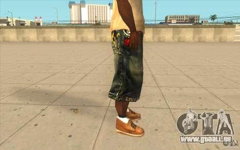 The BIG Makaveli Short Jeans pour GTA San Andreas quatrième écran