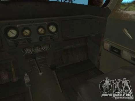 UAZ-31519 de COD MW2 pour GTA San Andreas vue intérieure