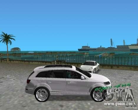 Audi Q7 v12 pour une vue GTA Vice City de la droite