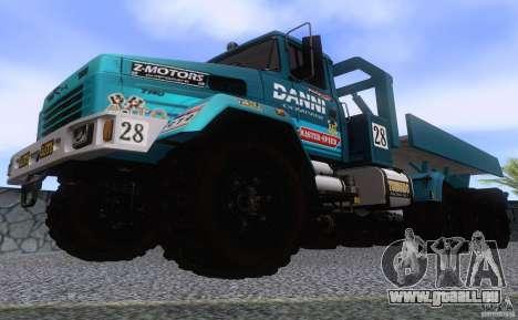 KrAZ 7140H essai 6 pour GTA San Andreas vue intérieure
