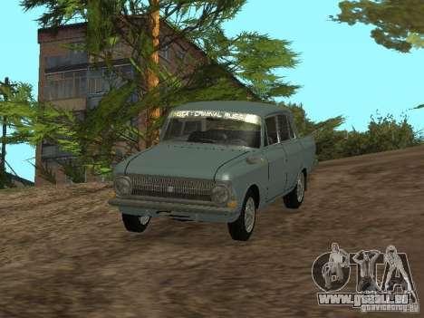 IZH 412 Moskvich pour GTA San Andreas vue de droite