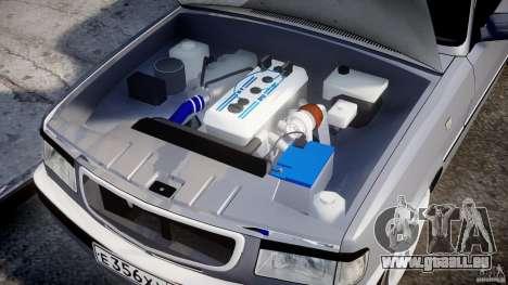 GAZ 3110 Turbo WRX STI v1. 0 für GTA 4 Unteransicht