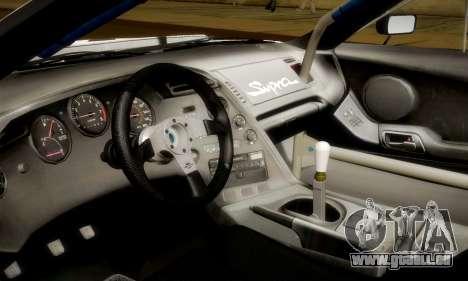 Toyota Supra JZA80 RZ Dragster pour GTA San Andreas vue de dessus