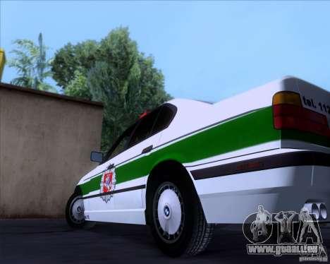 BMW E34 Policija für GTA San Andreas Innenansicht