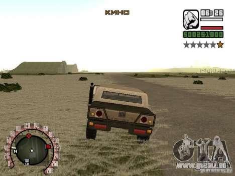 Ajout à la mode Radio cinéma pour GTA San Andreas troisième écran