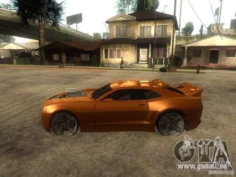 Chevrolet Camaro SS Dark Custom Tuning pour GTA San Andreas laissé vue