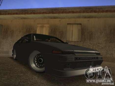 Toyota Sprinter Trueno AE86 pour GTA San Andreas laissé vue
