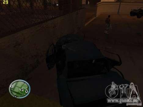 Voitures accidentées sur Grove Street pour GTA San Andreas sixième écran