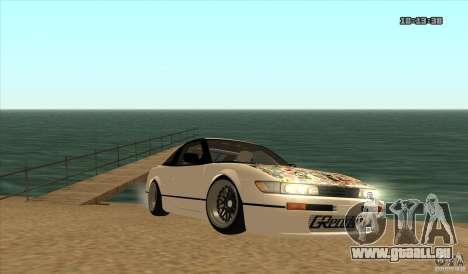 Nissan Sil180 JDM pour GTA San Andreas sur la vue arrière gauche