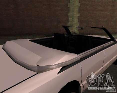 Taxi Cabriolet pour GTA San Andreas vue de côté