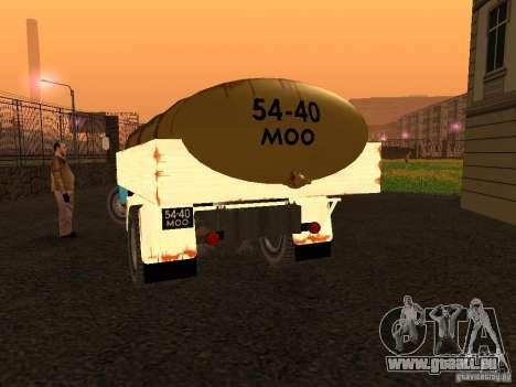 GAZ 53 Milch tanker für GTA San Andreas zurück linke Ansicht