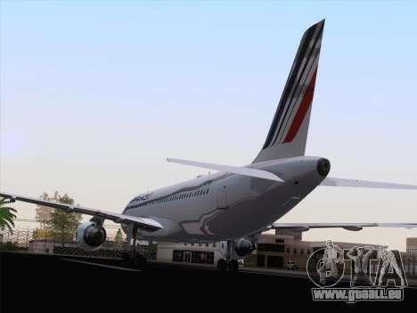 Airbus A320-211 Air France für GTA San Andreas Rückansicht