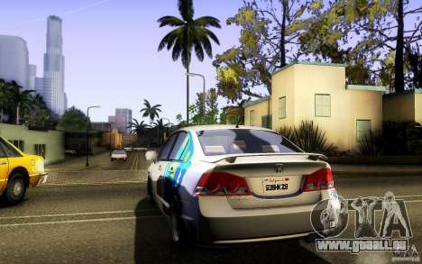 Honda Civic FD BlueKun für GTA San Andreas Innenansicht