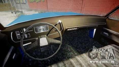 Dodge Monaco 1974 (bluesmobile) für GTA 4 Innenansicht