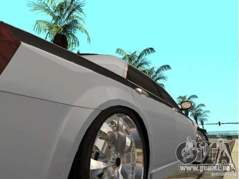 Chrysler 300 C pour GTA San Andreas sur la vue arrière gauche