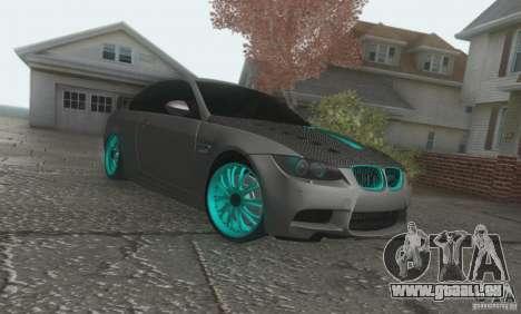 BMW M3 E92 Hellaflush v1.0 pour GTA San Andreas laissé vue
