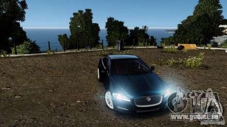 Jaguar XJ 2012 pour GTA 4 est une vue de dessous