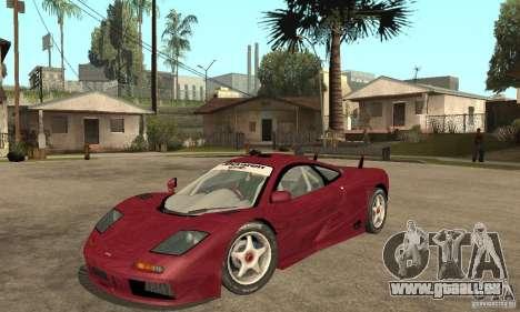 Mclaren F1 GTR (v1.0.0) für GTA San Andreas