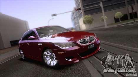 BMW M5 2009 pour GTA San Andreas roue