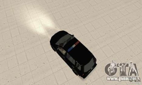 Volkswagen Touran 2006 Police pour GTA San Andreas sur la vue arrière gauche