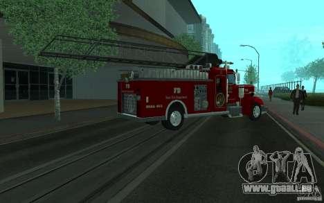 Peterbilt 379 Fire Truck ver.1.0 pour GTA San Andreas vue intérieure