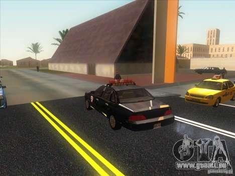 Ford Crown Victoria 1992 Detroit OCP pour GTA San Andreas sur la vue arrière gauche