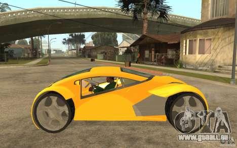 Lexus Concept 2045 pour GTA San Andreas laissé vue