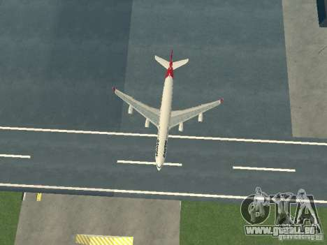 Airbus A340-300 Qantas Airlines pour GTA San Andreas vue de côté