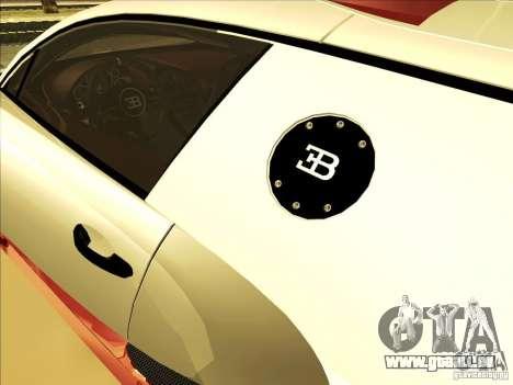 Bugatti Veyron pour GTA San Andreas vue de côté