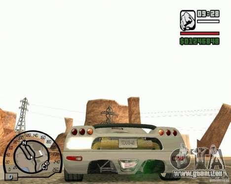Koenigsegg CC8S pour GTA San Andreas vue de droite