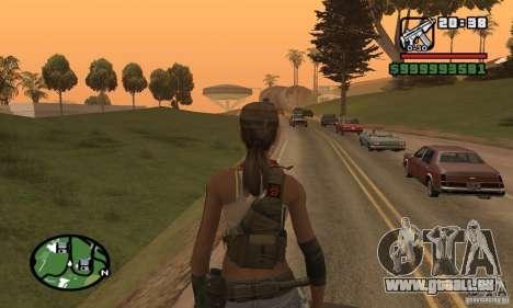 Das neue militärische Mädchen für GTA San Andreas her Screenshot