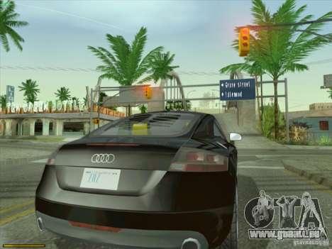Audi TT Custom pour GTA San Andreas sur la vue arrière gauche
