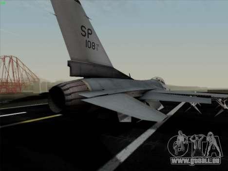 F-16C Warwolf für GTA San Andreas Innen