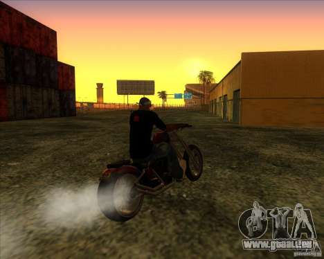 Hexer bike für GTA San Andreas Rückansicht